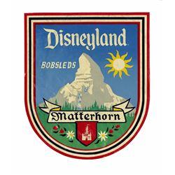 """Disneyland """"Matterhorn Bobsleds"""" Ride Vehicle Decal."""