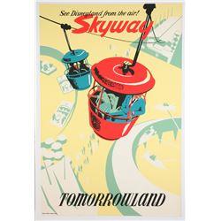 Original Disneyland  Skyway  Attraction Poster.