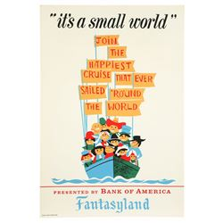Original Disneyland  It's a Small World  Attraction Poster.