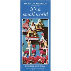 Pair of (2)  Bank of America Presents - It's a Small World  Pamphlets.
