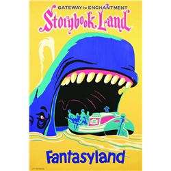 "Original Disneyland ""Storybookland"" Attraction Poster."
