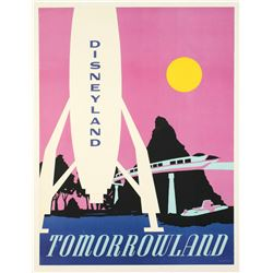 "Disneyland Tomorrowland ""Near-Attraction"" Poster."
