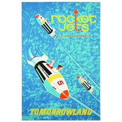 "Original Disneyland ""Rocket Jets"" Attraction Poster."