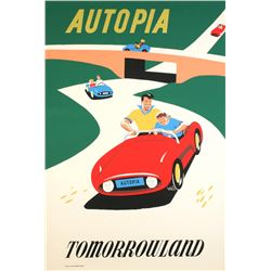"Original Disneyland ""Autopia"" Attraction Poster."