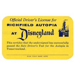 Junior Autopia Driver's License.