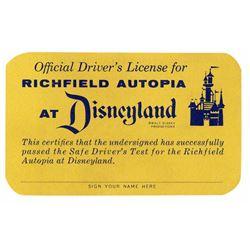 Richfield Autopia Driver's License.