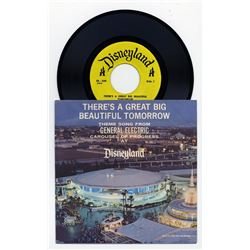 There's a Great Big Beautiful Tomorrow  Carousel of Progress 45rpm Record.