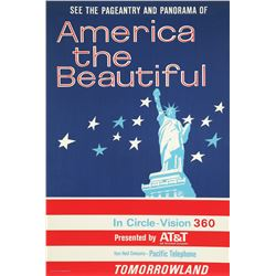 "Original Disneyland ""America the Beautiful"" Attraction Poster."