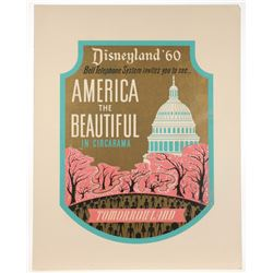 "Disneyland ""America The Beautiful"" Lamppost Shield."