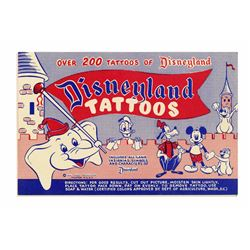 Early Disneyland Tattoo Book.