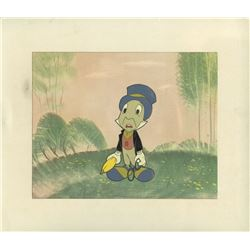 Original Production Cel of Jiminy Cricket.