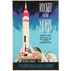 "Original Disneyland ""Rocket to the Moon"" Attraction Poster."