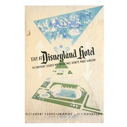 "Original Displayed ""Disneyland Hotel"" Attraction Poster."