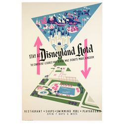 "Original ""Disneyland Hotel"" Attraction Poster."