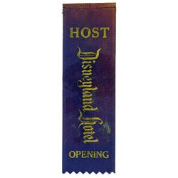 Disneyland Hotel Grand Opening Host Ribbon.