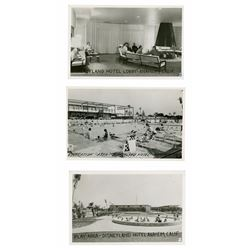 Extremely Rare Set of (3) Disneyland Hotel Postcards.