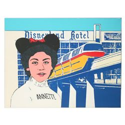 Annette Funicello Silkscreen by Larry Jason.