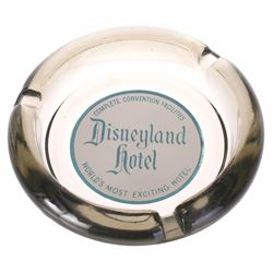 Disneyland Hotel Smoked Glass Ashtray.