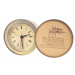 Gold Disneyland Hotel Travel Clock.