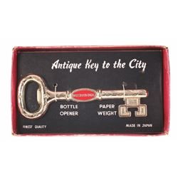 "Disneyland Hotel ""Antique Key to the City"" Bottle Opener & Paperweight."