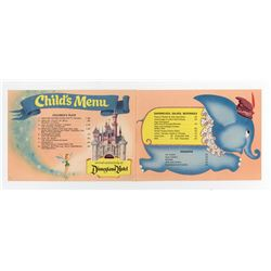 Disneyland Hotel Child's Menu.