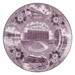 Disneyland Hotel Decorative Plate.