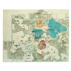 Jack Sayers' Pre-Opening WED Map of Walt Disney World.