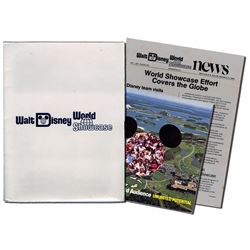 Walt Disney World Showcase Presentation Book and Folder.