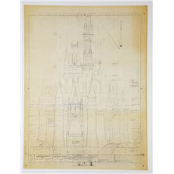 """Cinderella Castle"" South Elevation Blueprint."