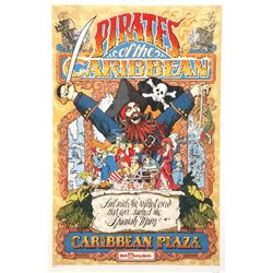 "Original Walt Disney World ""Pirates of the Caribbean"" Attraction Poster."