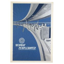 "Original Walt Disney World ""Wedway PeopleMover"" Attraction Poster."
