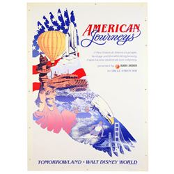 "Original Walt Disney World ""American Journeys"" Attraction Poster."