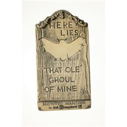 Randotti Haunted Mansion Tombstone.