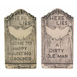 Pair of (2) Randotti WDW Tombstones.