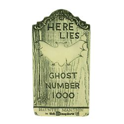 "Randotti Haunted Mansion Tombstone ""Ghost Number 1000""."