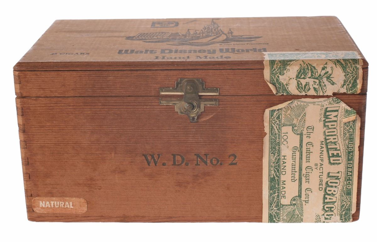 Walt Disney World Wooden Cigar Box