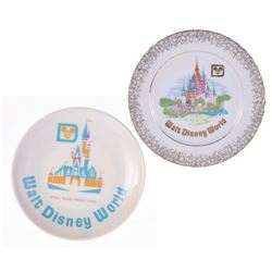 Pair of (2) Walt Disney World Wall Plates.