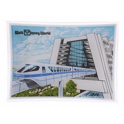 Walt Disney World Monorail Glass Tray.