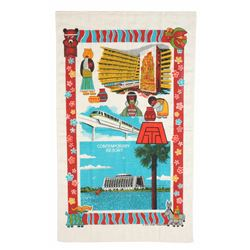 Contemporary Resort Souvenir Tapestry.