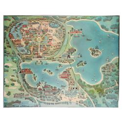 Early Walt Disney World Hotel Room Map.