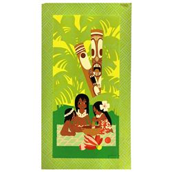 Polynesian Village Resort Silkscreened Guest Room Decor.
