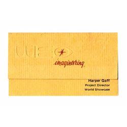 WED Harper Goff Business Card.