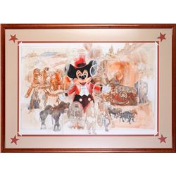 Walt Disney World Epcot Daredevil Circus Spectacular Original Artwork.
