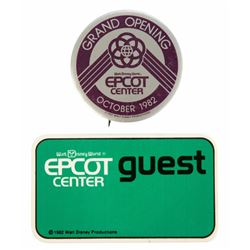 Pair of (2) Epcot Center Grand Opening Badges.