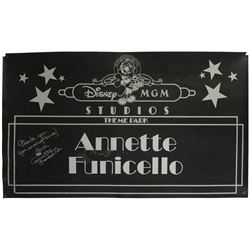 Signed Annette Funicello Car Door Sign.
