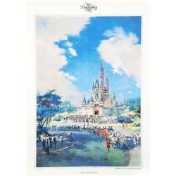 "Tokyo Disneyland ""Cinderella Castle"" Poster by Herb Ryman."