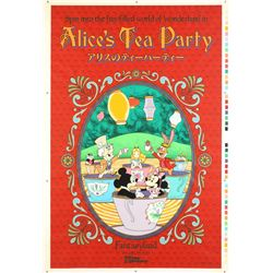 "Original Tokyo Disneyland ""Alice's Tea Party"" Attraction Poster."