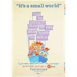 "Original Tokyo Disneyland ""It's a Small World"" Attraction Poster."