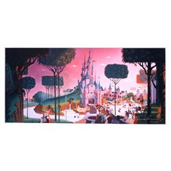 Le Château de la Belle a Bois Dormant, Disneyland Paris  Art Print Signed by Frank Armitage.