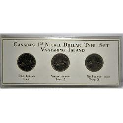 Canada's 1st Nickel Dollar Type Set - Vanishing Island